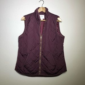 Old Navy Burgundy Red Quilted Vest